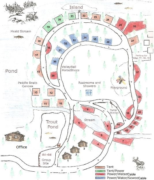 Moose River Campground Map